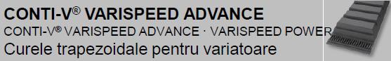 CONTI-V® VARISPEED ADVANCE Curele de variator pentru transmiterea de puteri ridicate
