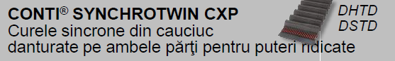 CONTI® SYNCHROTWIN CXP Curele sincrone din cauciuc danturate pe ambele părţi pentru transmiterea de puteri ridicate